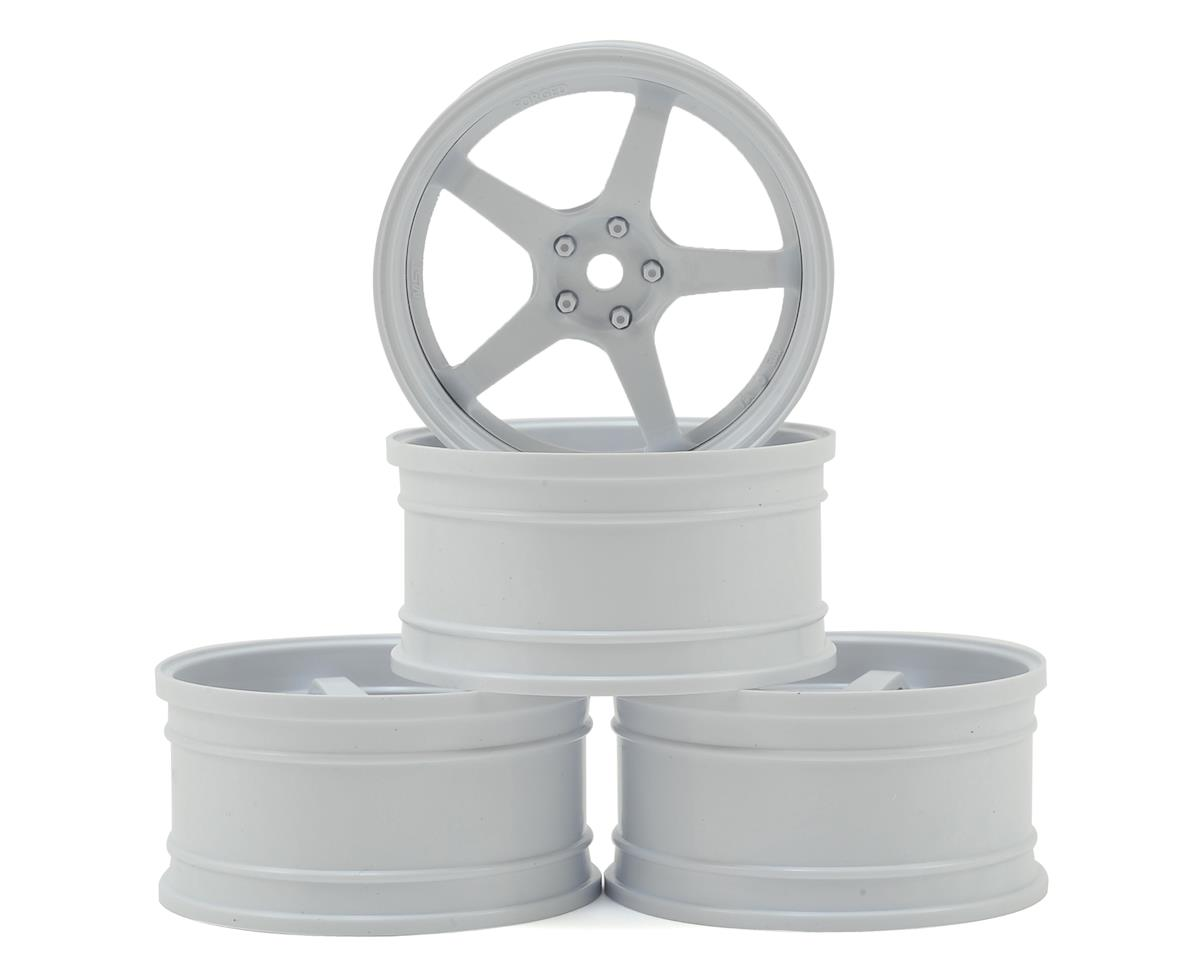 MST GT Wheel Set (White/White) (4) (Offset Changeable)