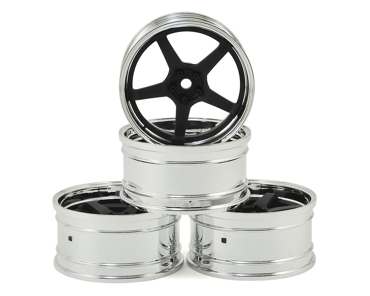 GT Wheel Set (Chrome/Matte Black) (4) (Offset Changeable) by MST