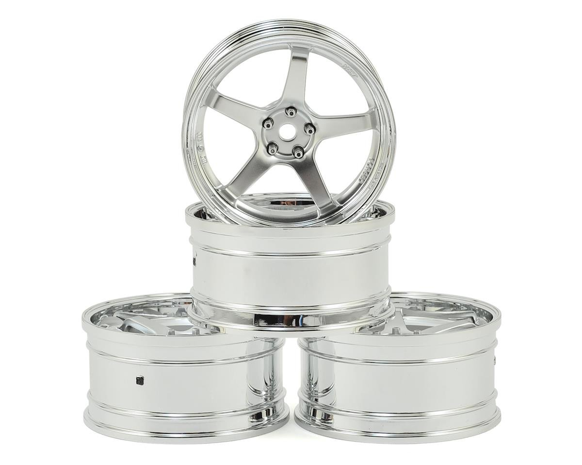 GT Wheel Set (Chrome/Matte Silver) (4) (Offset Changeable) by MST MS-01D