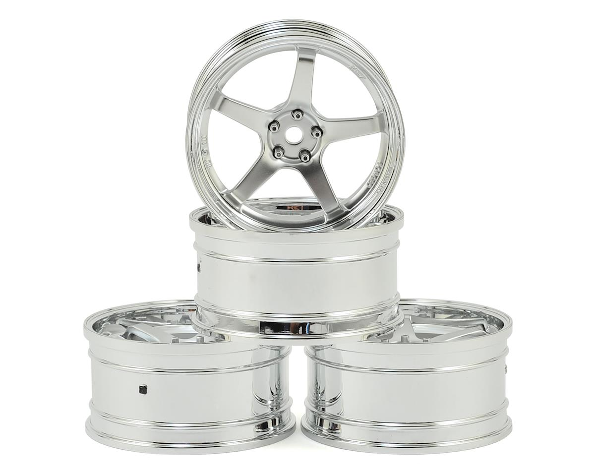 MST GT Wheel Set (Chrome/Matte Silver) (4) (Offset Changeable)