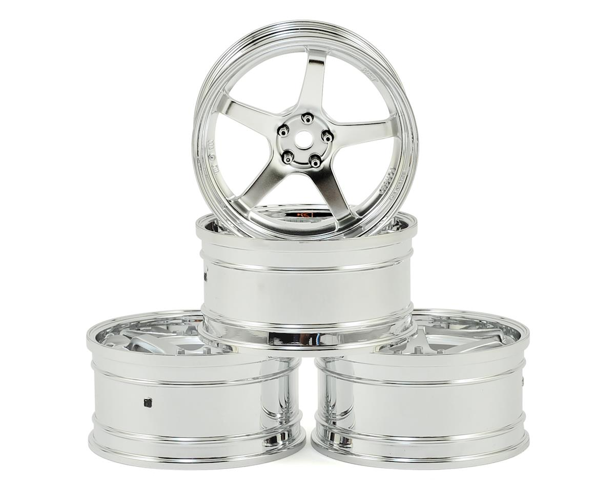 GT Wheel Set (Chrome/Chrome) (4) (Offset Changeable) by MST MS-01D