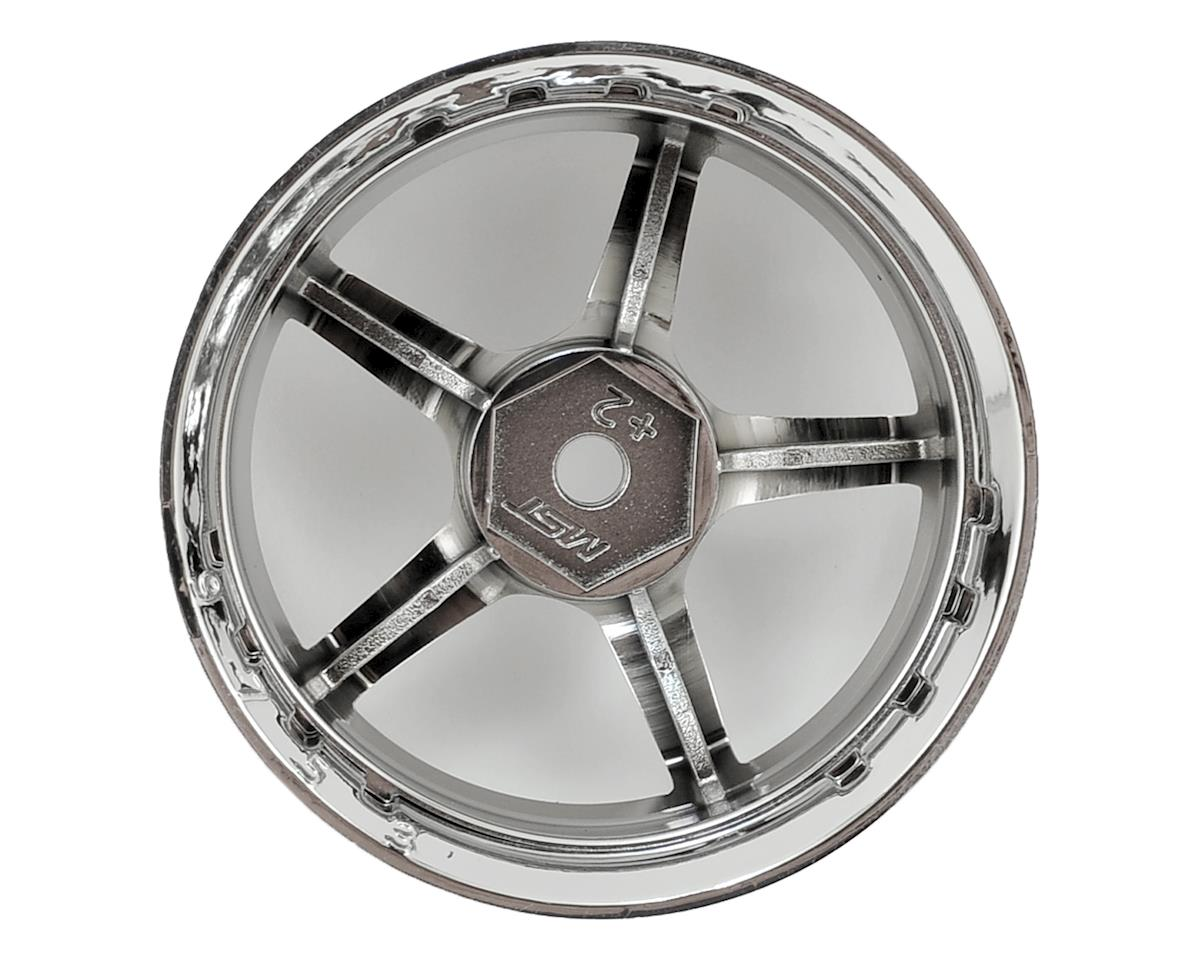 MST GT Wheel Set (Chrome/Chrome) (4) (Offset Changeable)