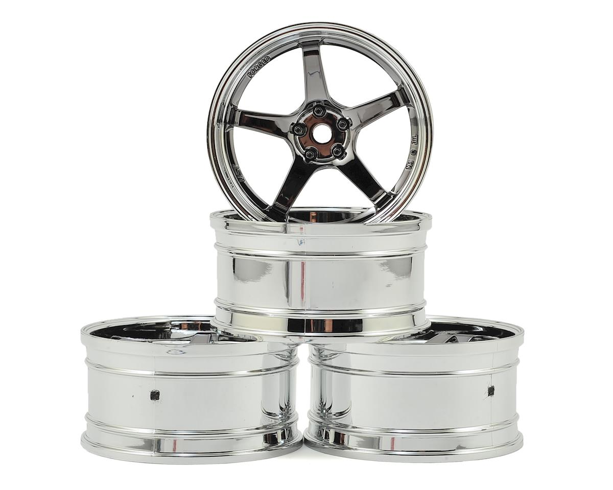 MST GT Wheel Set (Chrome/Black Chrome) (4) (Offset Changeable)