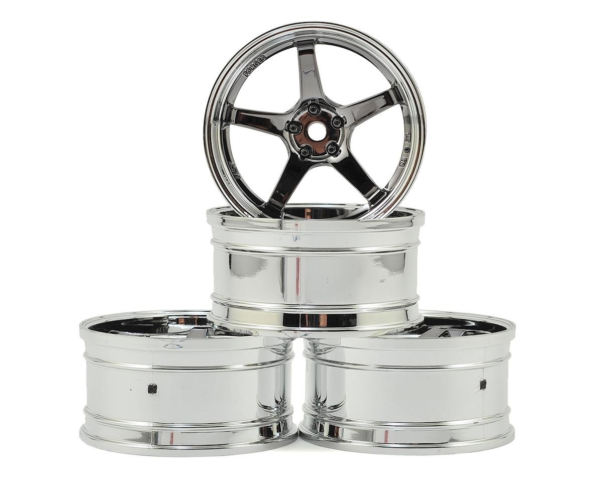 GT Wheel Set (Chrome/Black Chrome) (4) (Offset Changeable) by MST MS-01D
