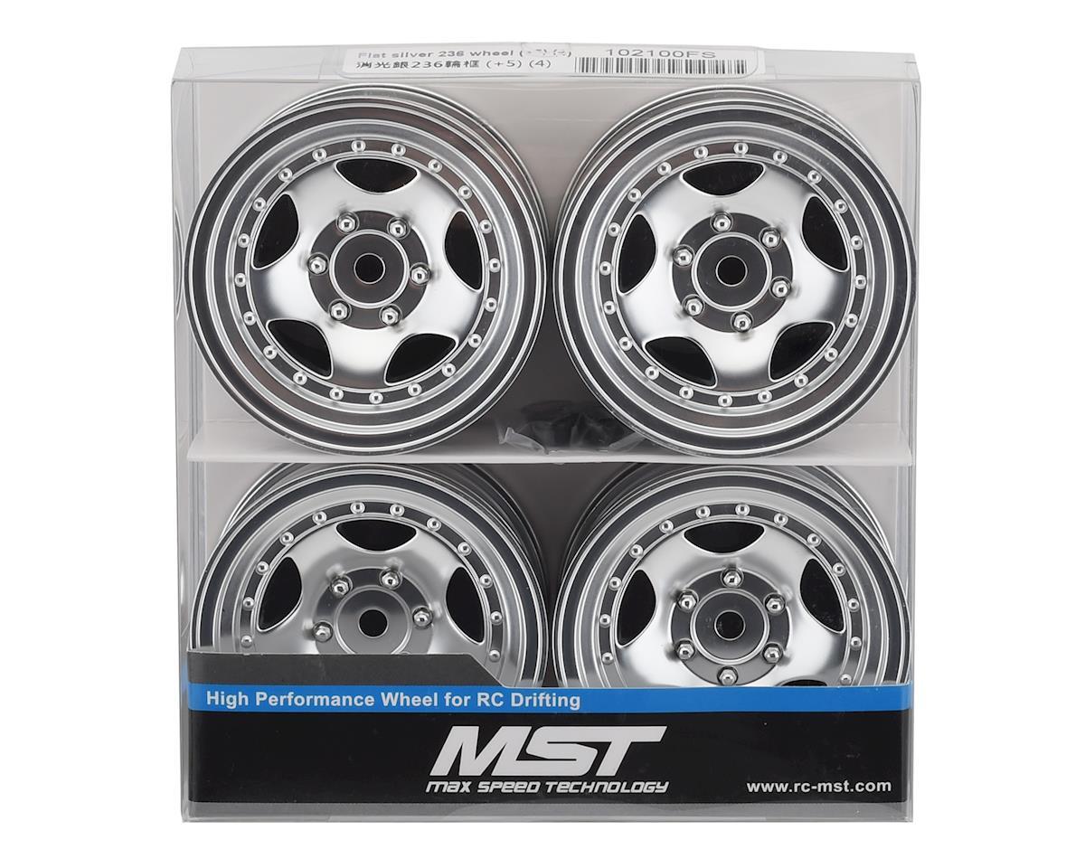 MST 236 Wheel Set (Flat Silver) (4) (+5 Offset)
