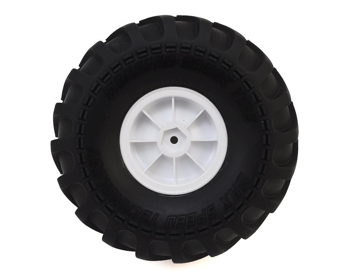 MST MTX-1 Pre-Mounted Monster Truck Tires & Wheels (White) (2)
