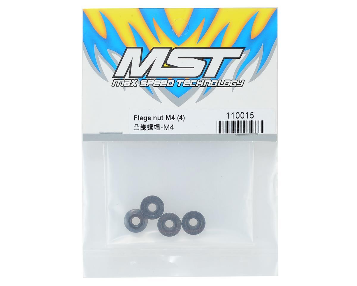 Flange nut M4 (4) by MST