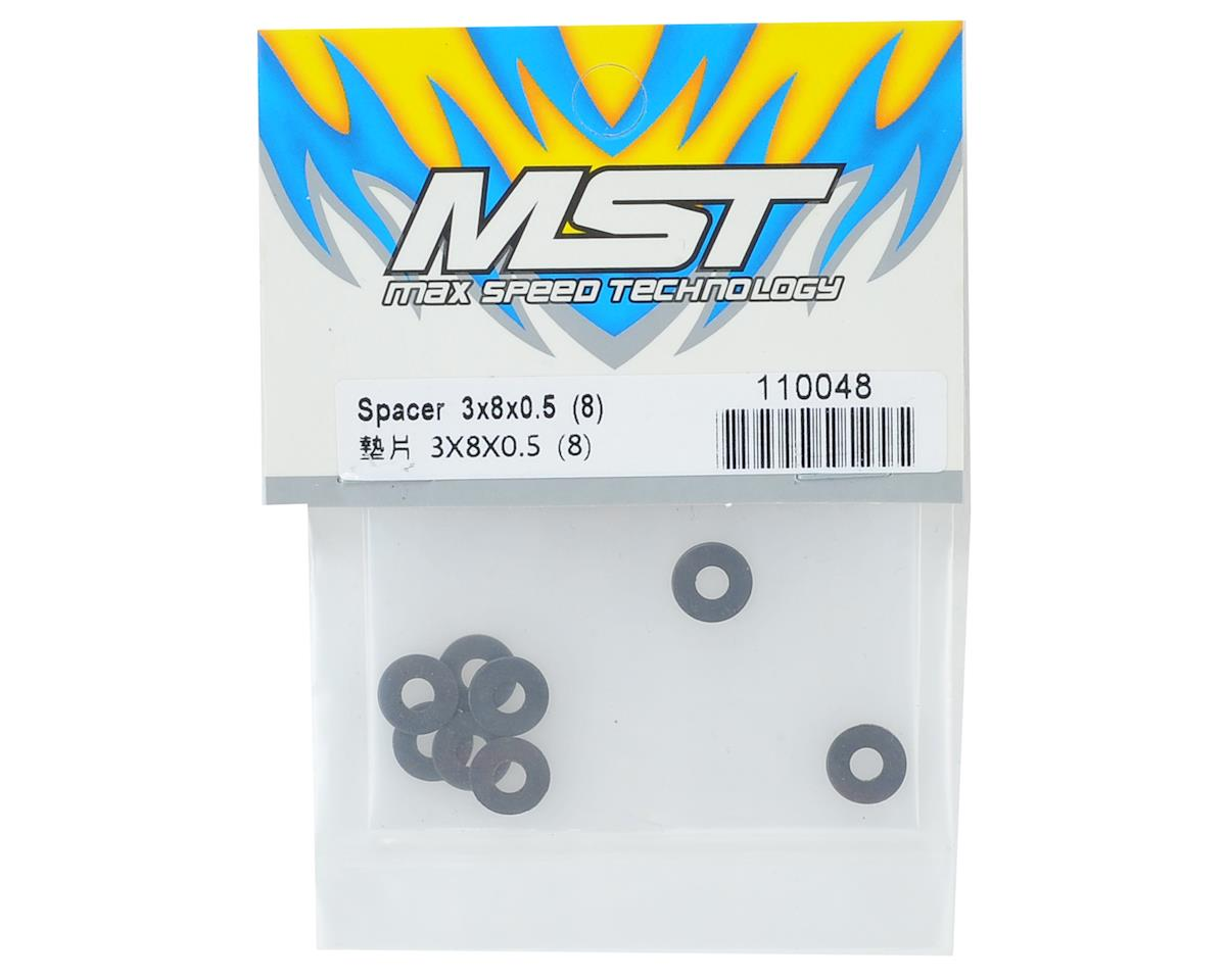 MST 3x8x0.5mm Spacer (8)
