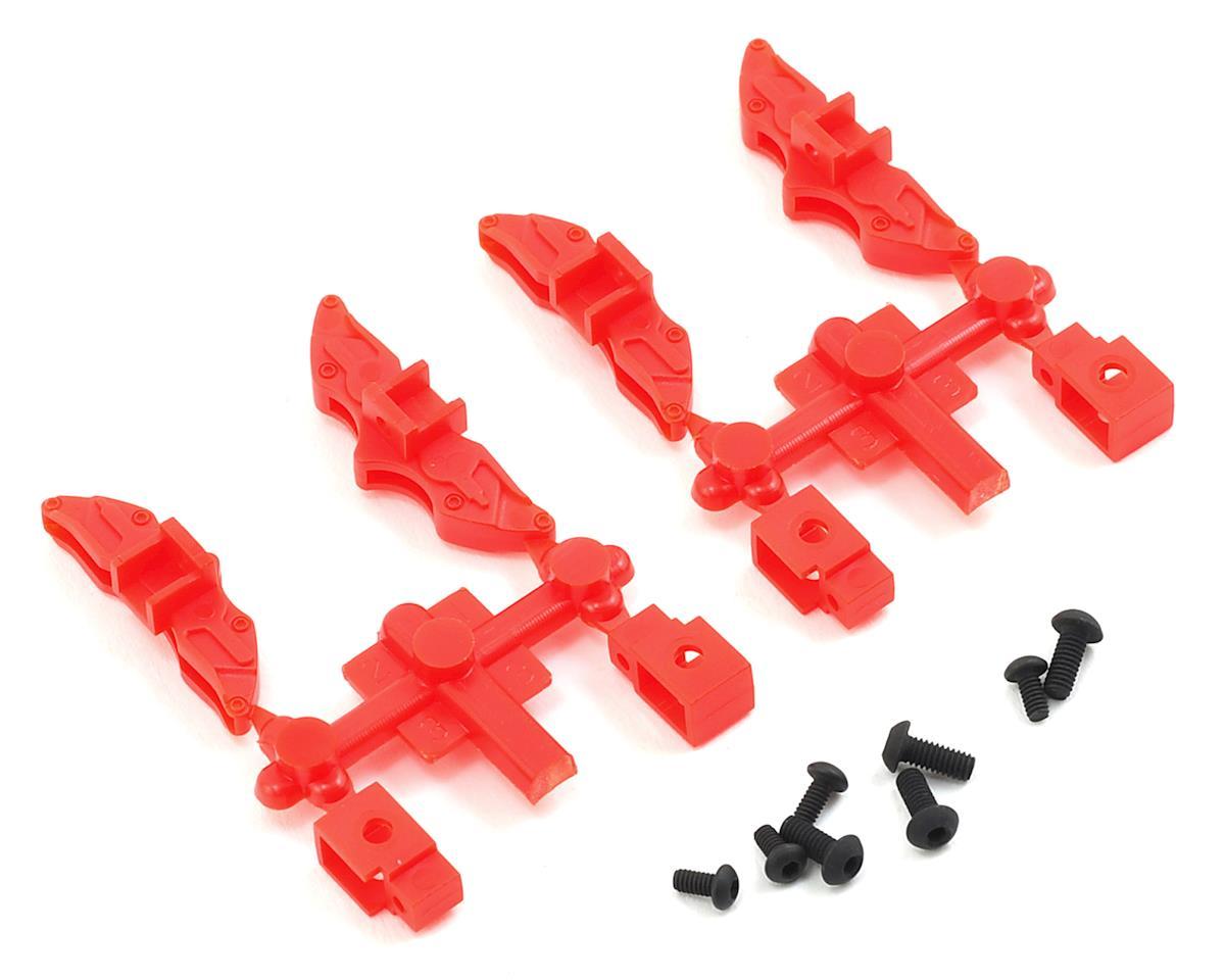 MST FXX-D Brake Calipers (Red) (4)