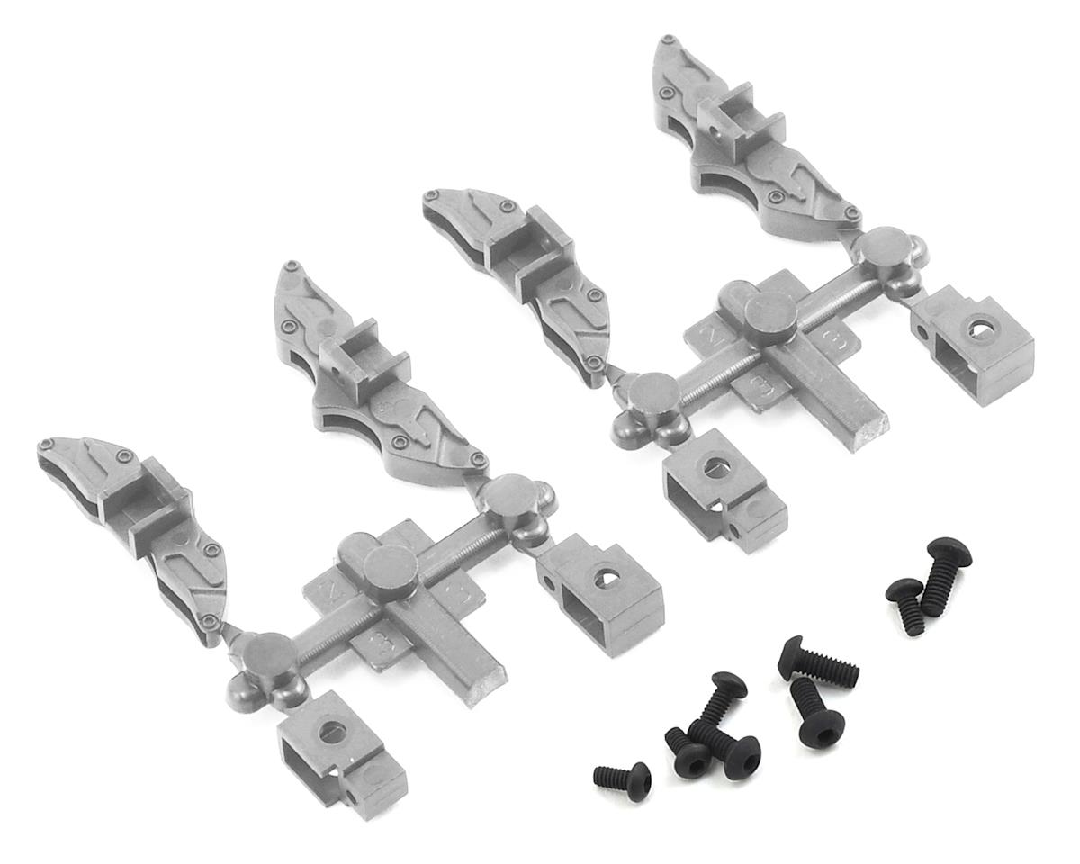 MST FXX-D Brake Calipers (Flat Silver) (4)