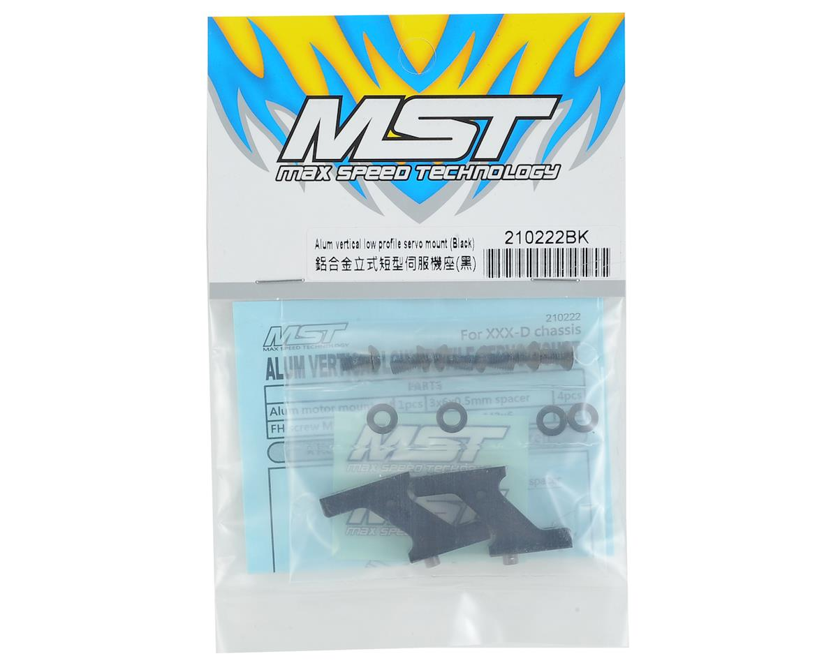 MST FXX-D Aluminum Vertical Low Profile Servo Mount (Black)