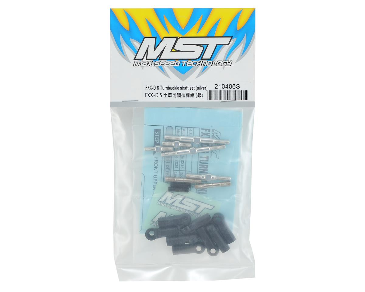 MST FXX-D S Turnbuckle Shaft Set (Silver)