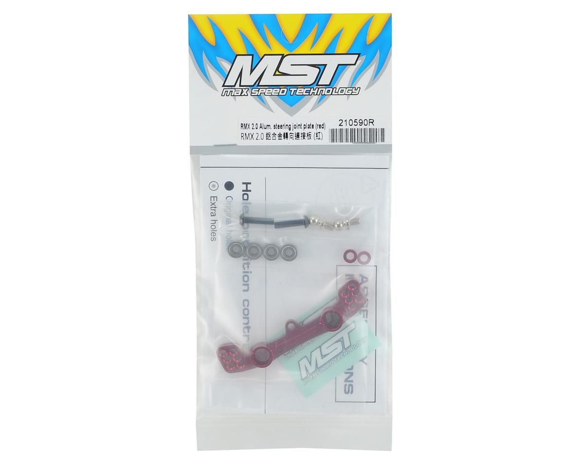 MST RMX 2.0 Aluminum Steering Joint Plate (Red)