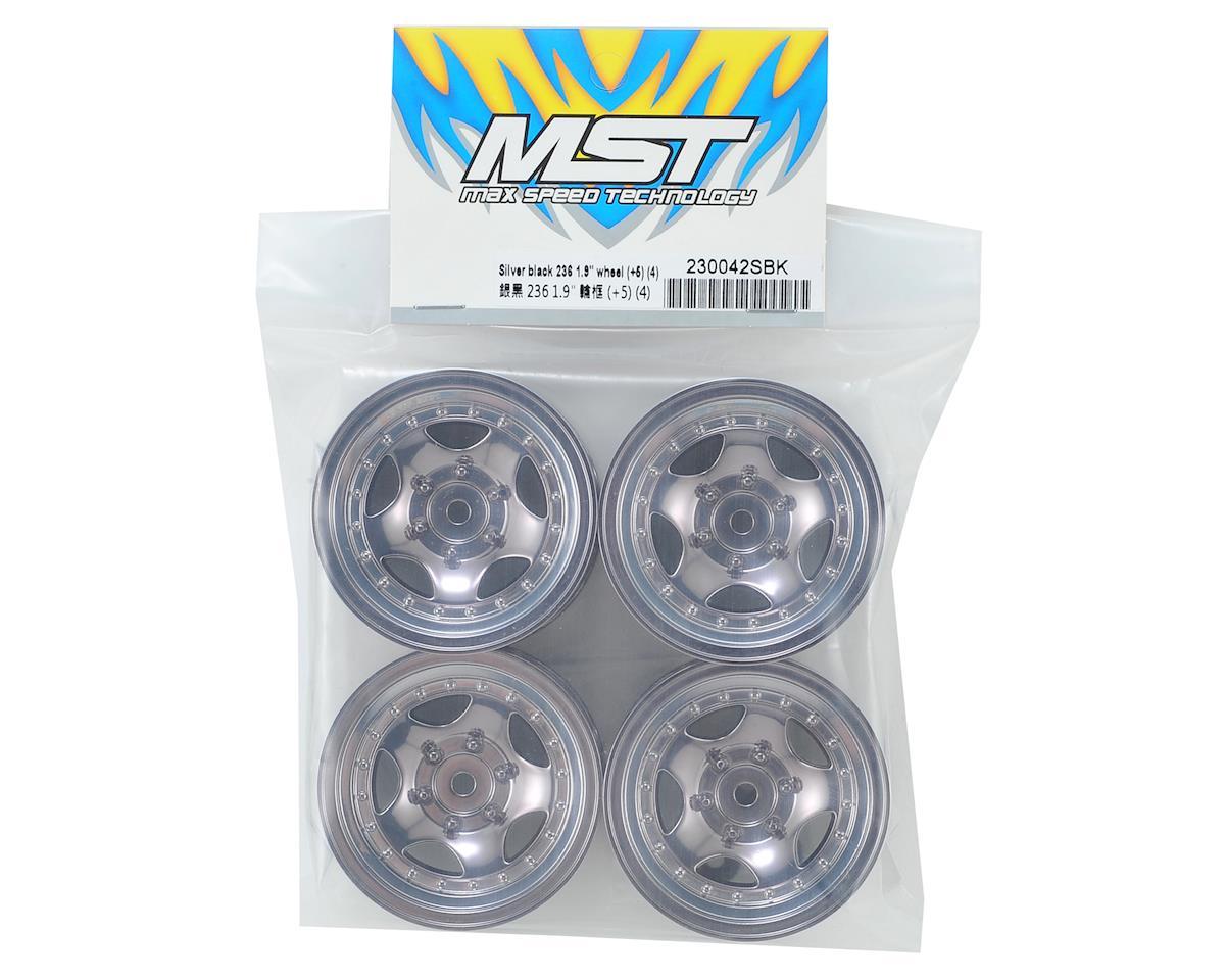 """MST 236 1.9"""" Wheel (Silver Black) (4) (+5)"""