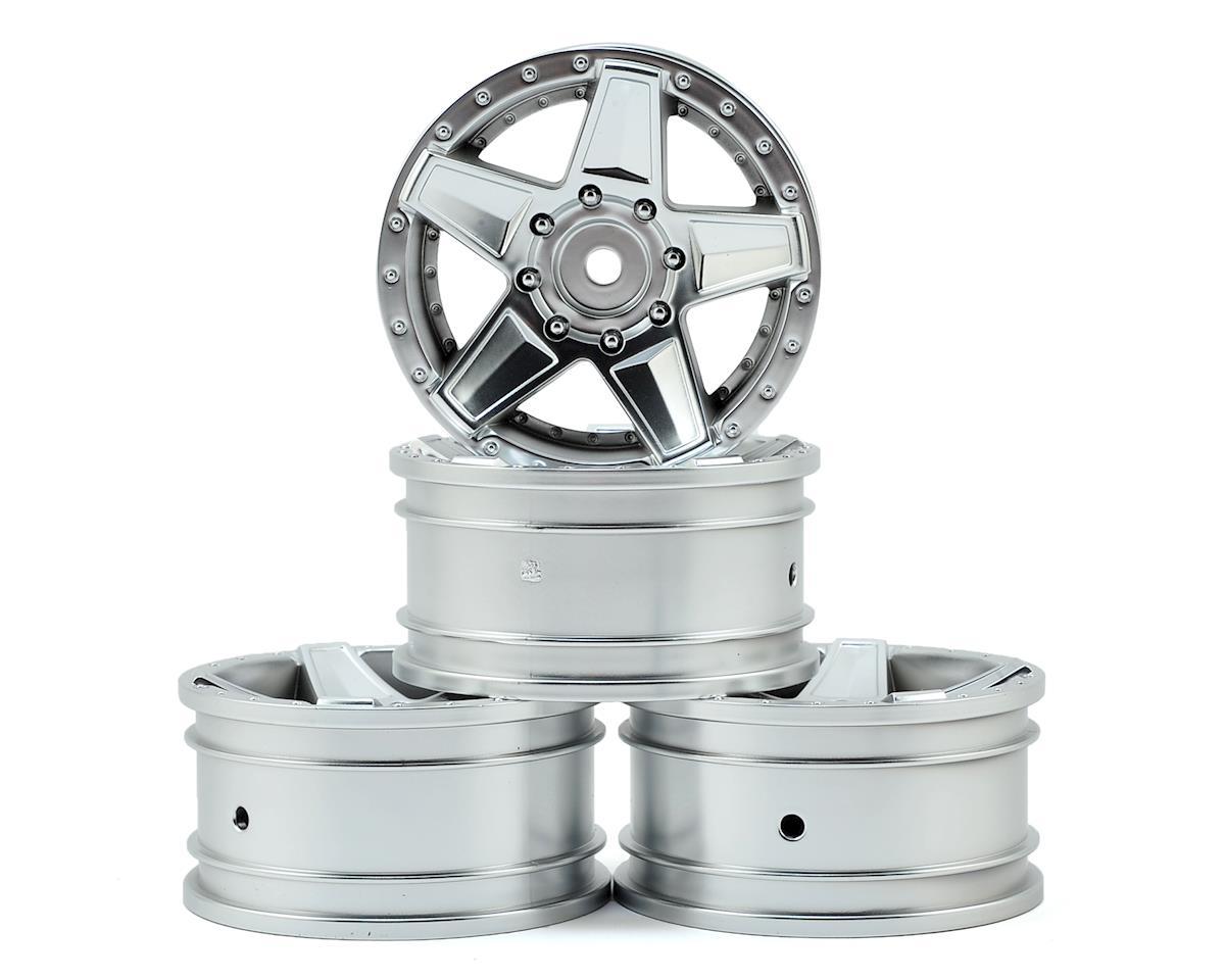 """MST 648 1.9"""" Wheel (Flat Silver) (4) (+5)"""