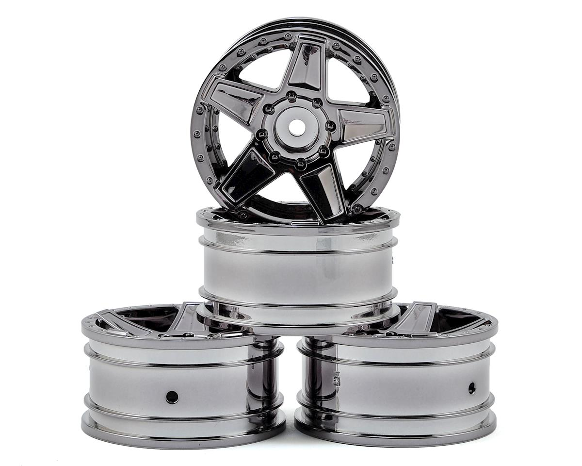 "648 1.9"" Wheel (Silver Black) (4) (+5) by MST"