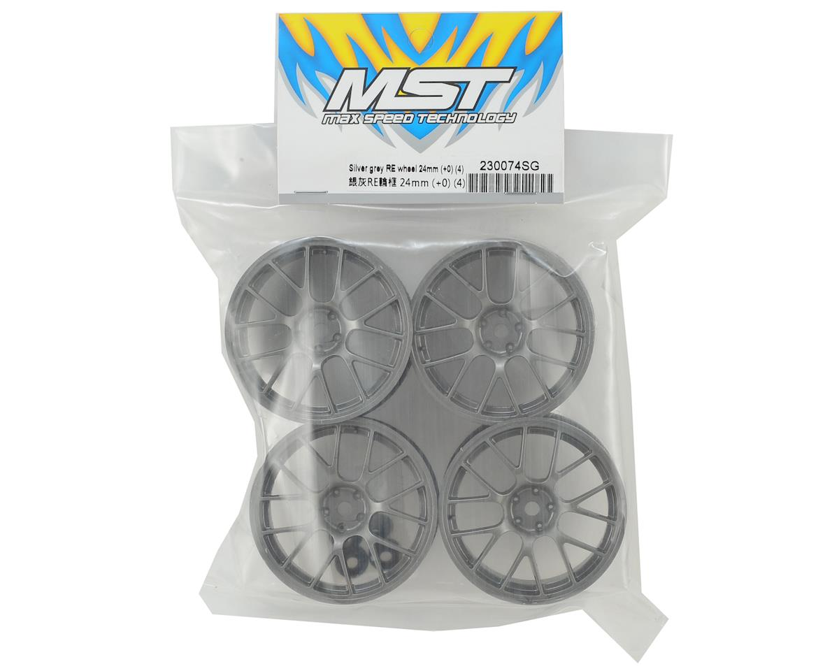 MST 24mm RE Wheel (Grey) (4) (+0 Offset)
