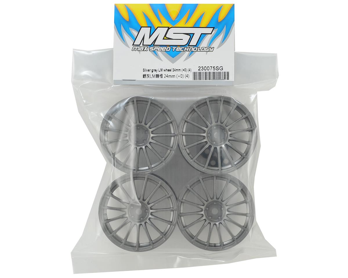 MST 24mm LM Wheel (Grey) (4) (+0 Offset)