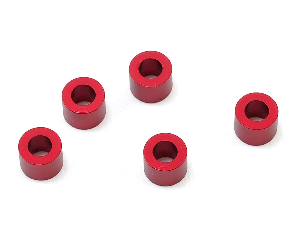 MST 3x5.5x4.0mm Aluminum Spacer (5) (Red)