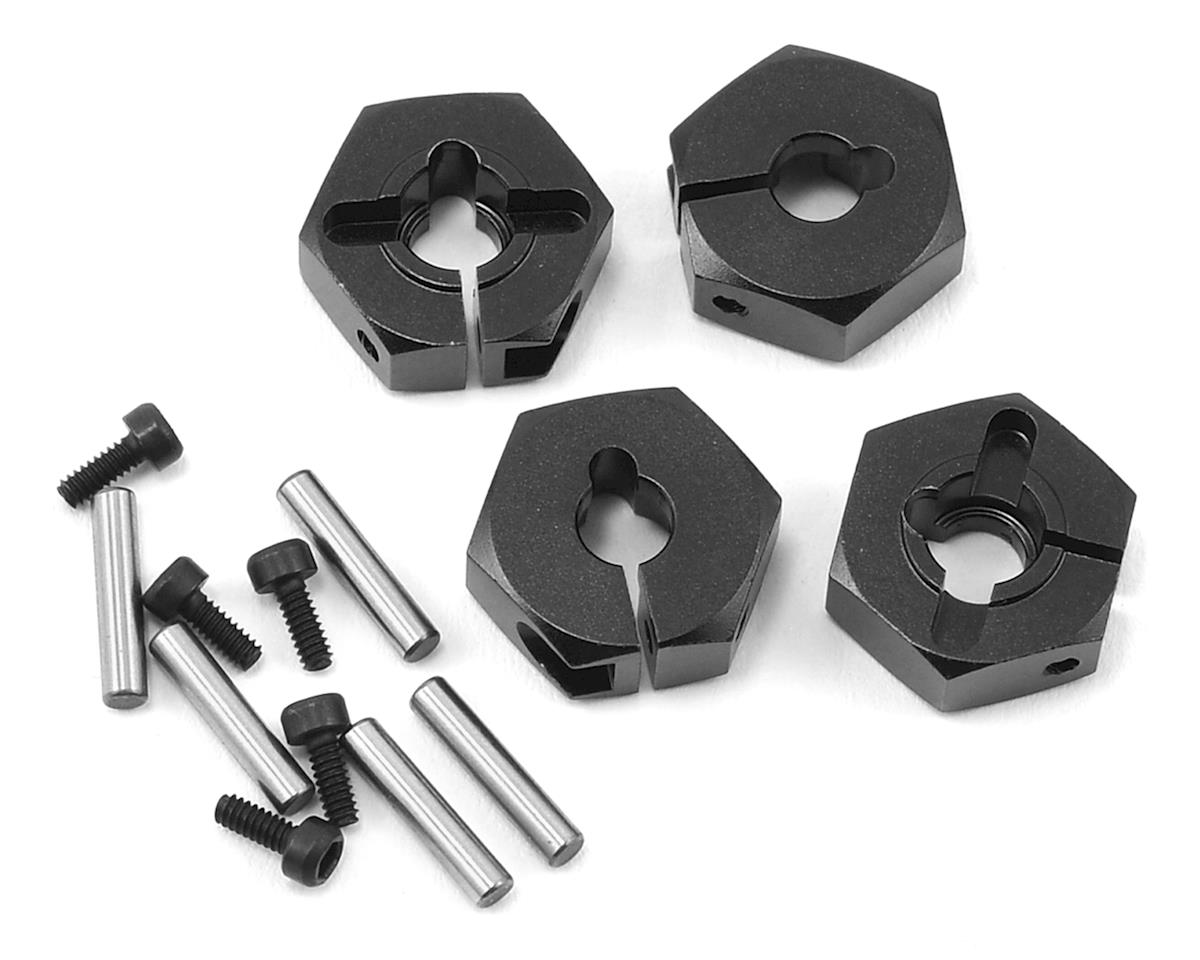 MST Alum. hex. wheel hubs 4mm (black) (4)