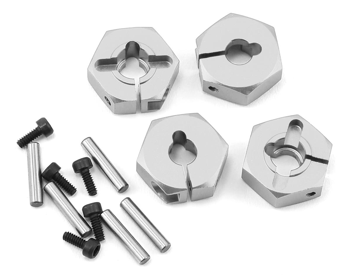 MST Alum. hex. wheel hubs 4mm (silver) (4)