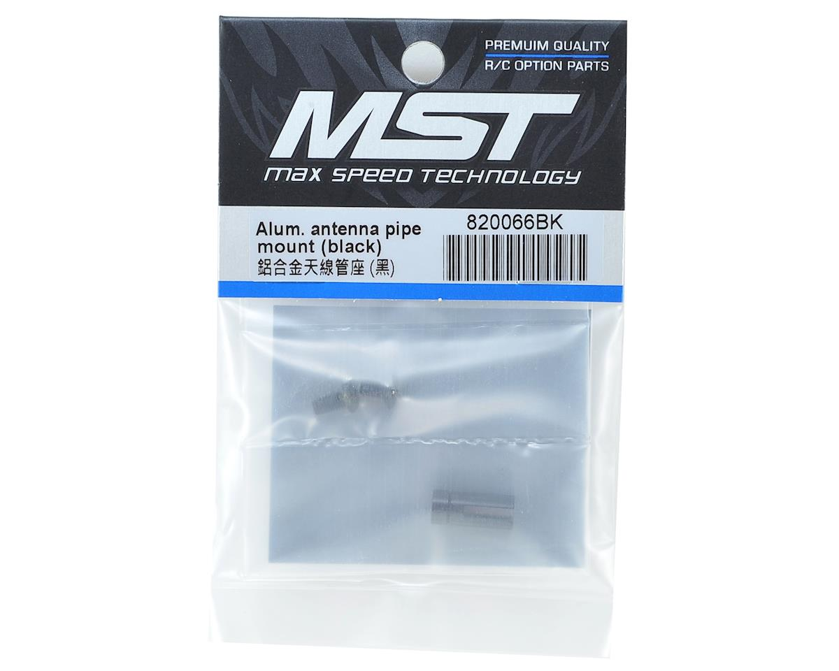 MST Aluminum Antenna Pipe Mount (Black)