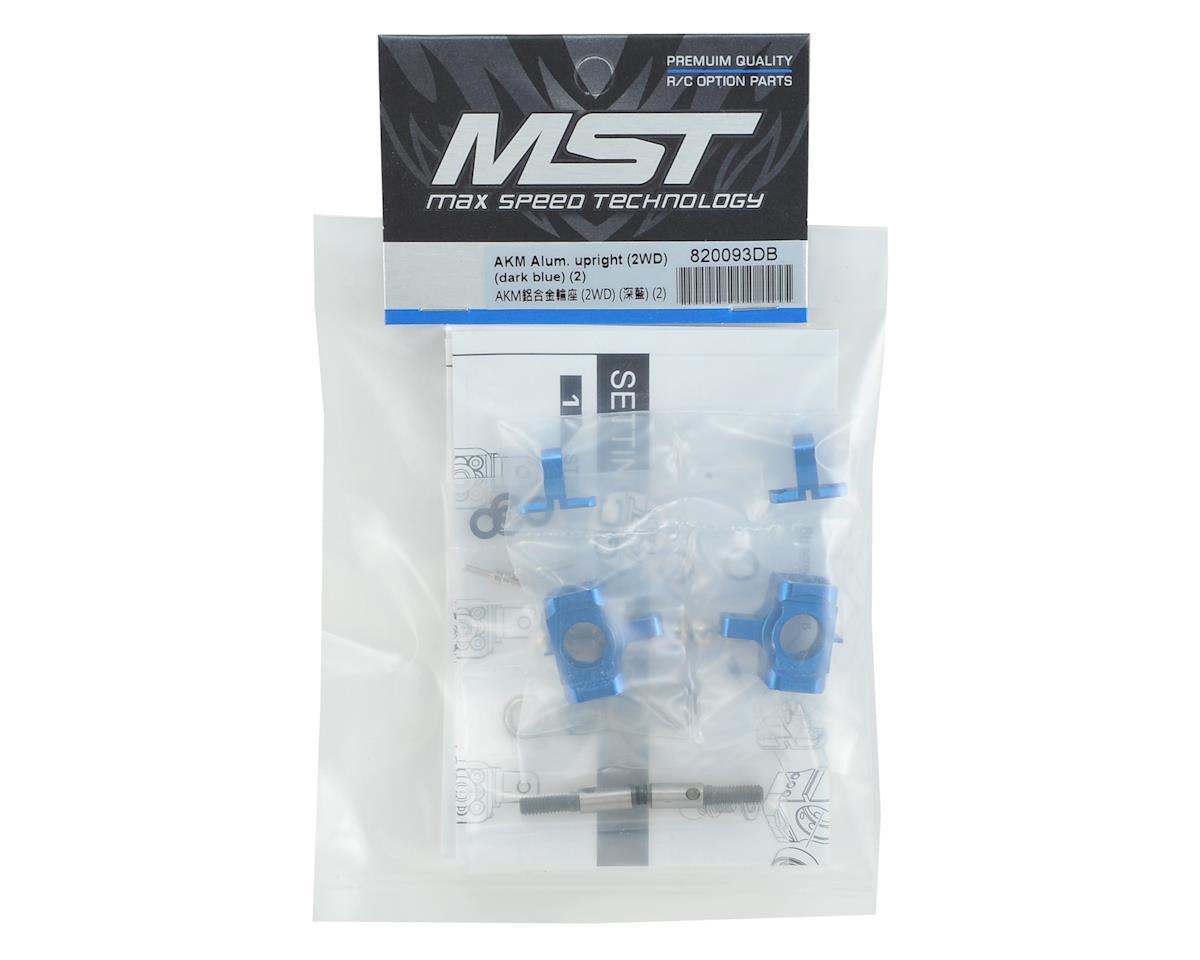 MST AKM Aluminum Upright (Dark Blue) (2) (2WD)