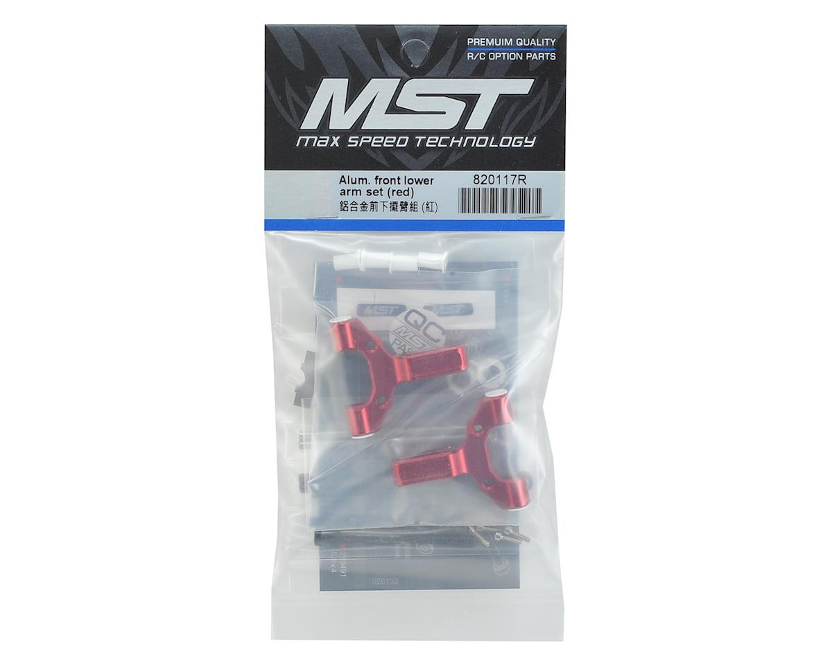 MST Aluminum Front Lower Arm Set (Red)
