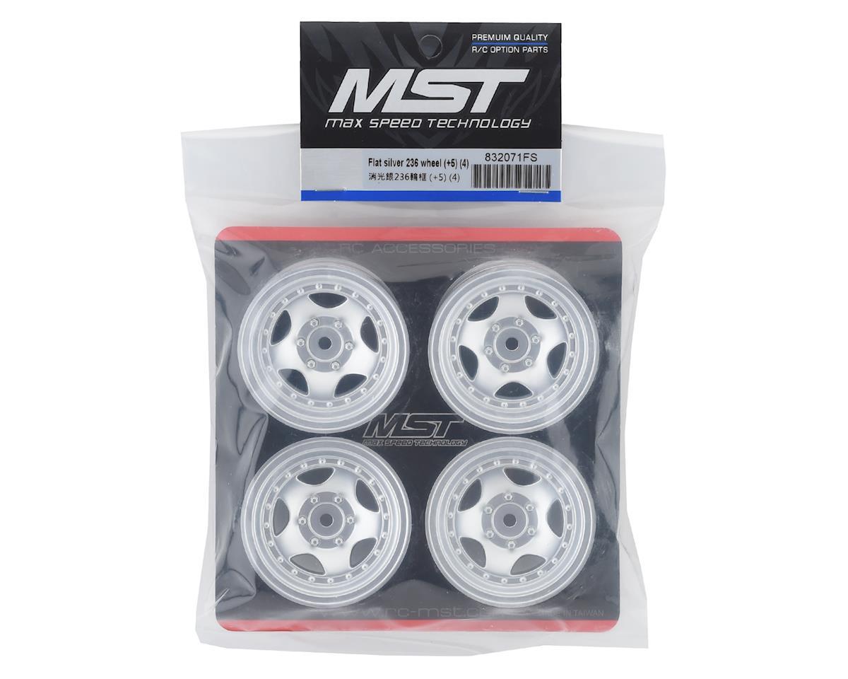 "MST 236 1.9"" Crawler Wheel (Flat Silver) (4) (+5)"