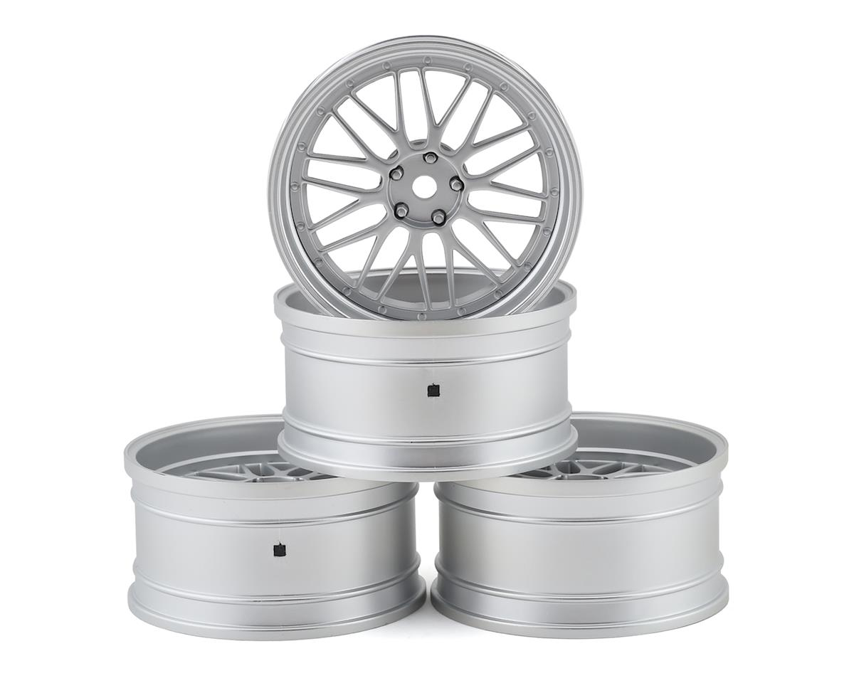 MST LM Wheel Set (Flat Silver) (4) (Offset Changeable)
