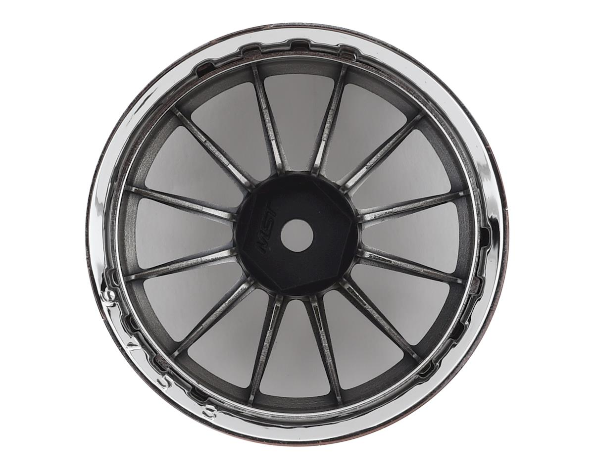 MST S-GD 21 Wheel Set (Silver/Black) (4) (Offset Changeable)