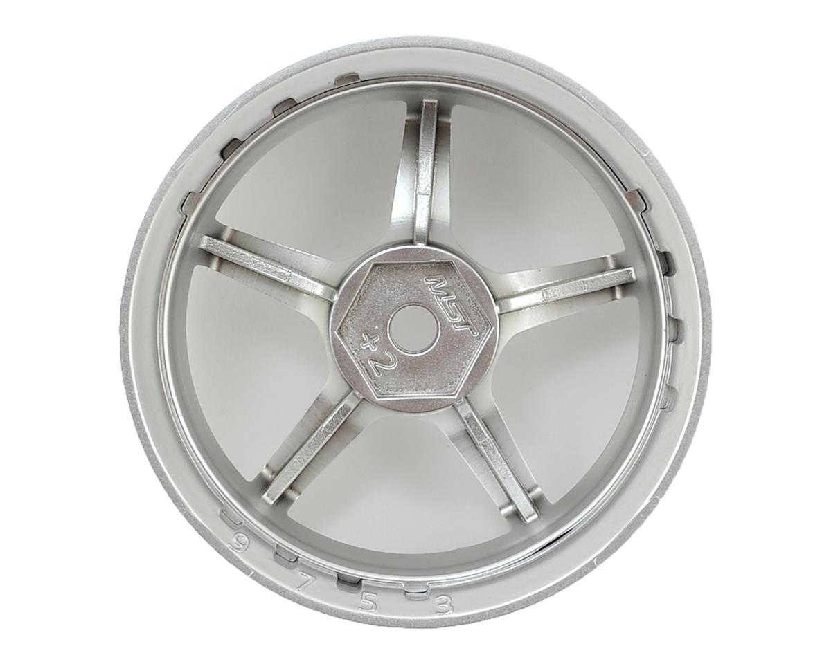 Image 2 for MST GT Wheel Set (Chrome/Matte Silver) (4) (Offset Changeable)
