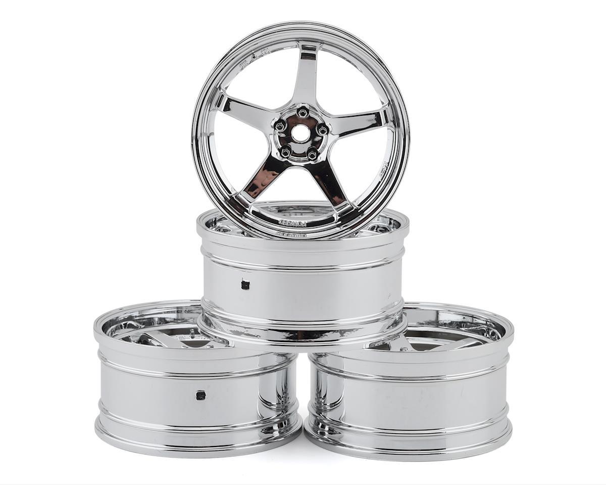 MST GT Wheel Set (Chrome/Chrome) (4) (Offset Changeable)