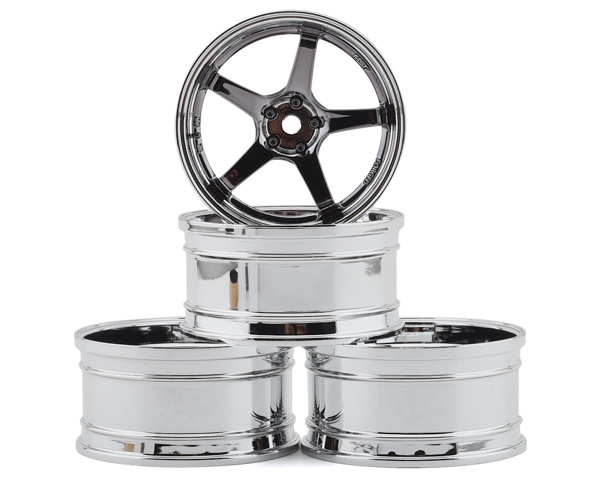 MST FXX-D GT Wheel Set (Chrome/Black Chrome) (4) (Offset Changeable)