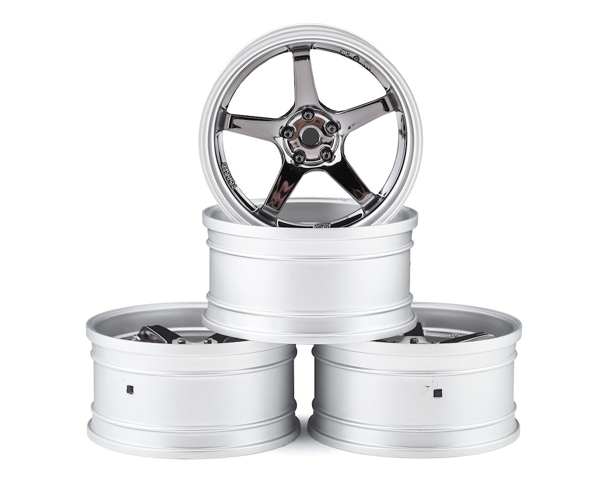 MST GT Wheel Set (Matte Silver/Black Chrome) (4) (Offset Changeable) | alsopurchased