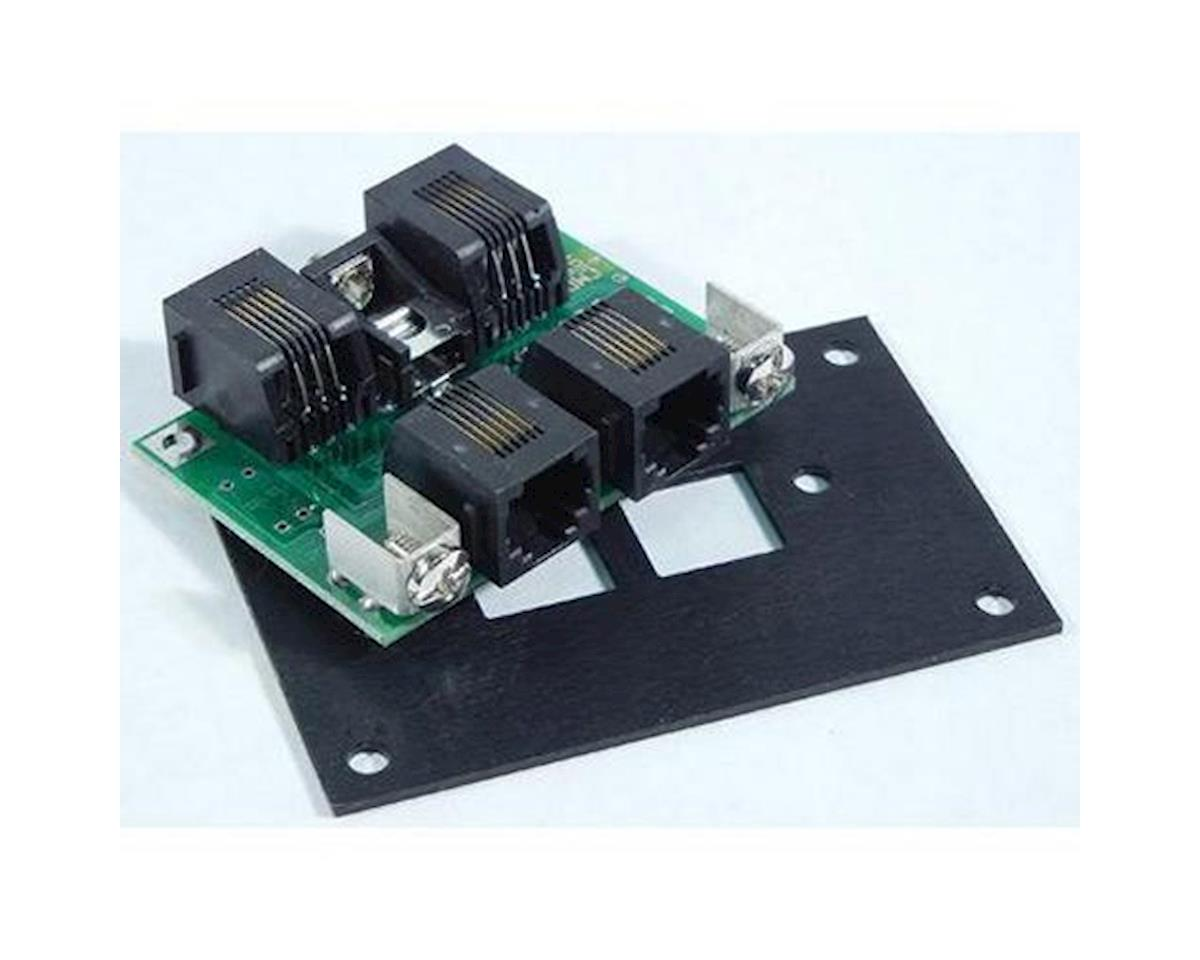 NCE Corporation Cab Bus Fascia Panel, 4 RJ12 Jacks