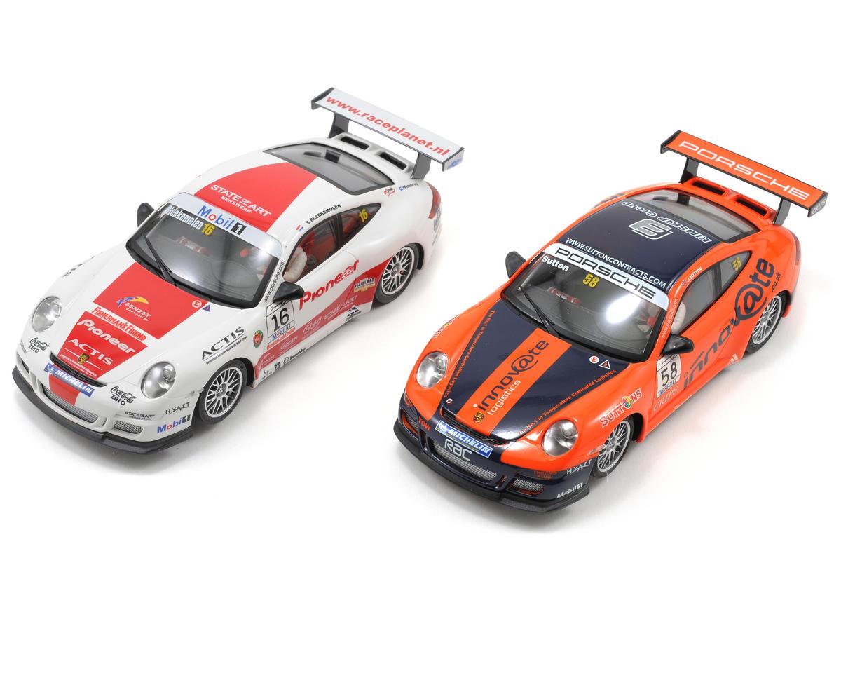 Ninco 1/32 GT3 Cup Figure 8 Track w/2 Porsche 997 Slot Cars
