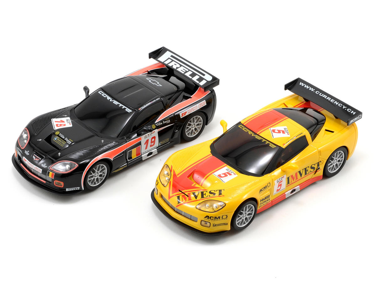 Ninco 1/32 American Speedway Figure 8 Set w/Two Corvette GT3 Slot Cars