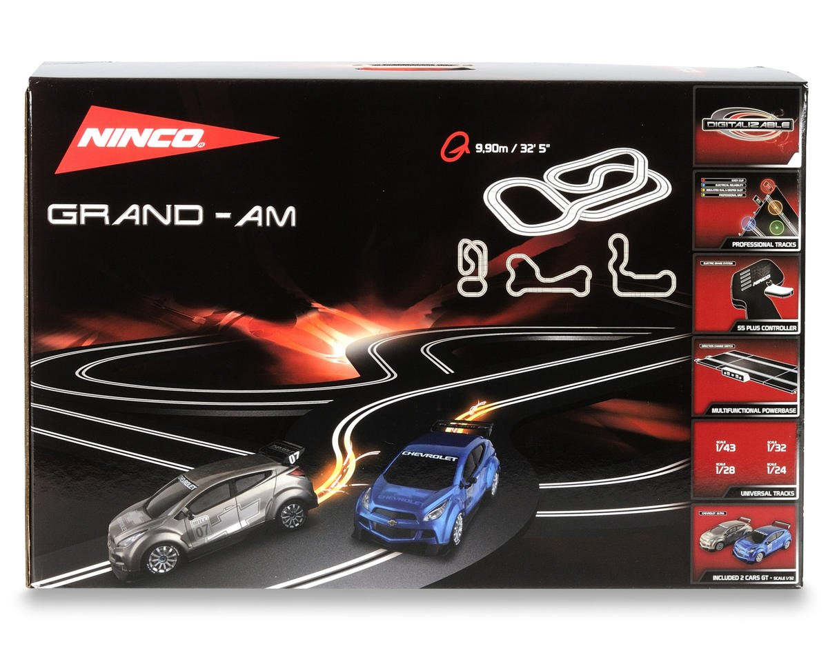 Ninco 1/32 Grand Am Set w/Two Chevrolet Ultra Slot Cars