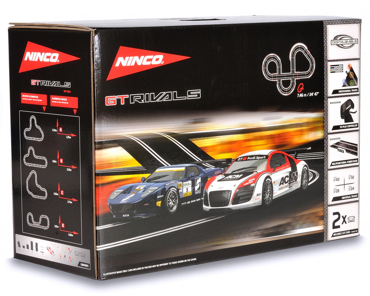 Ninco 1/32 2010 GT Rival Set w/Audi R8 GT3 and Ford GT