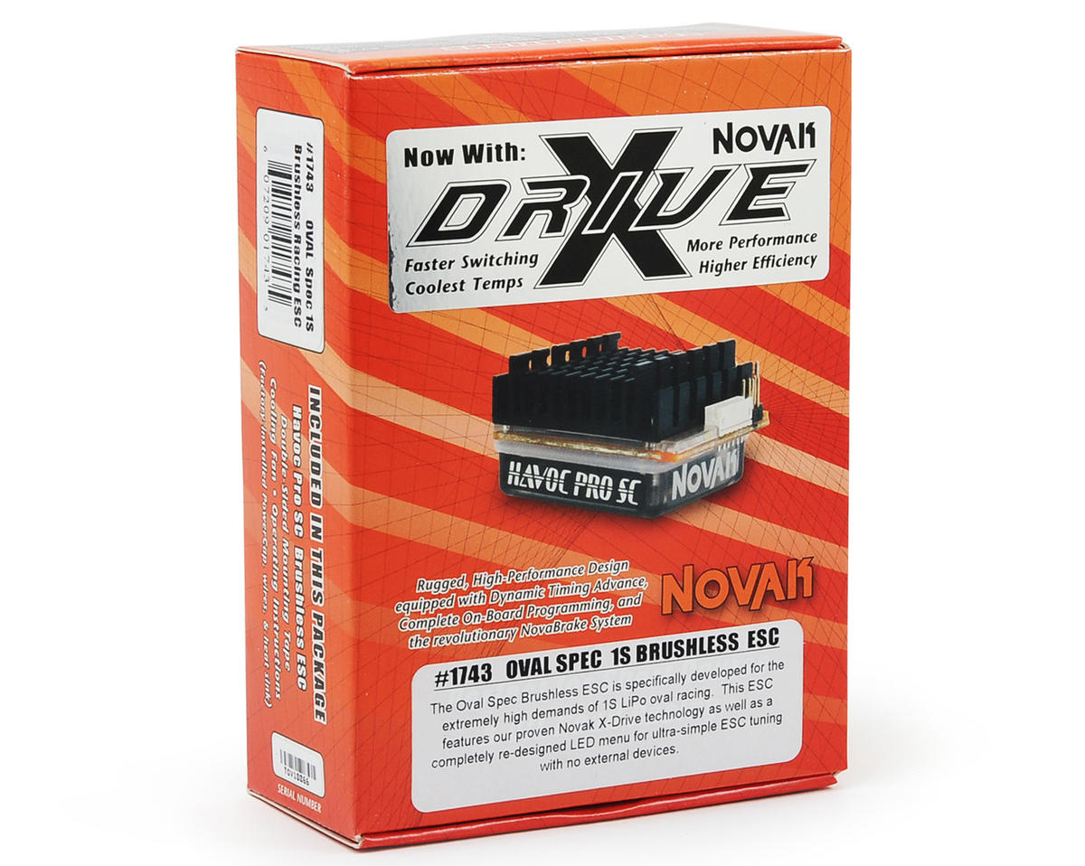 Novak Oval Spec 1S Racing Brushless Electronic Speed Control w/X-Drive