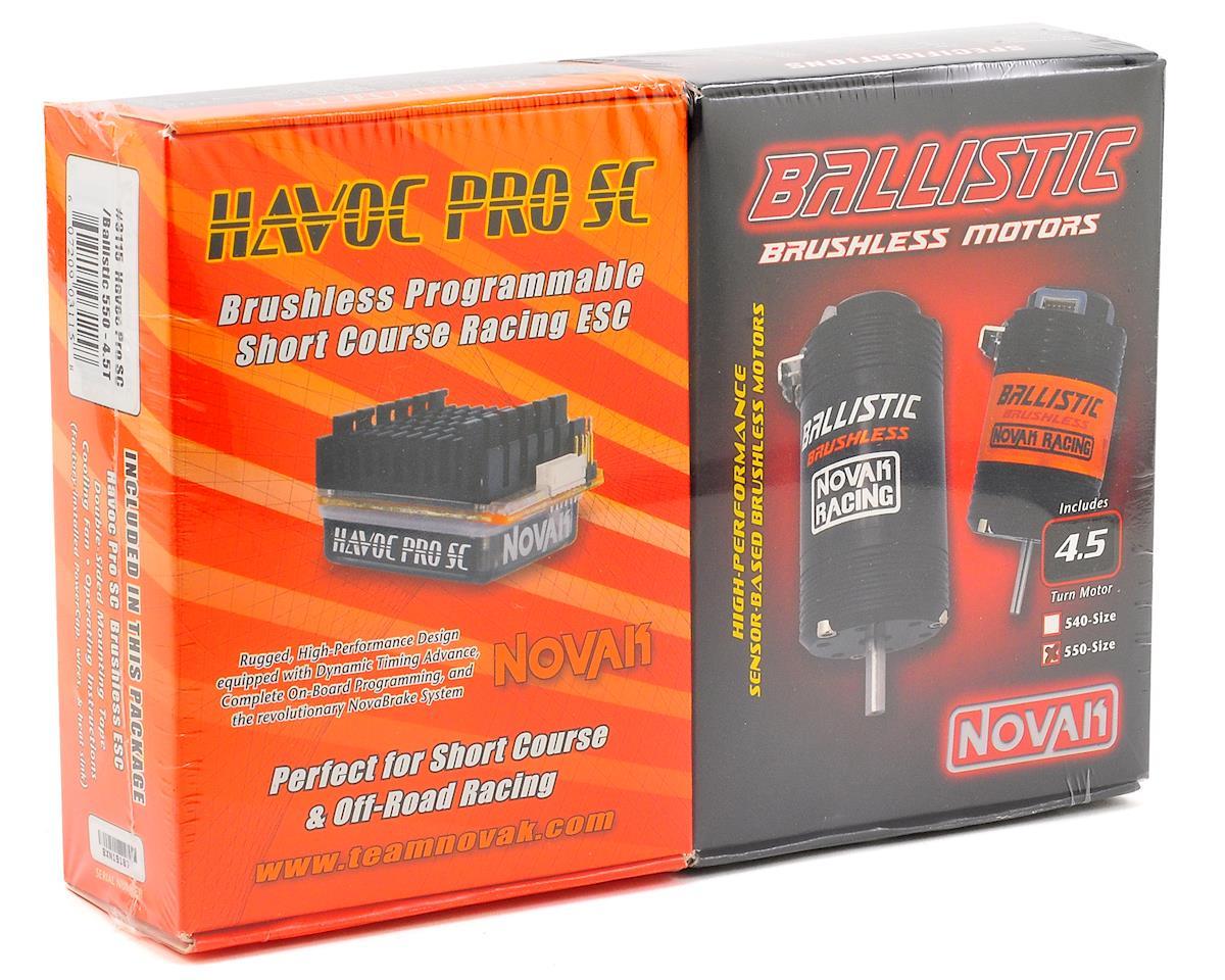Novak Havoc Pro SC Brushless ESC/Ballistic 550 Motor Combo w/X-Drive (4.5T)