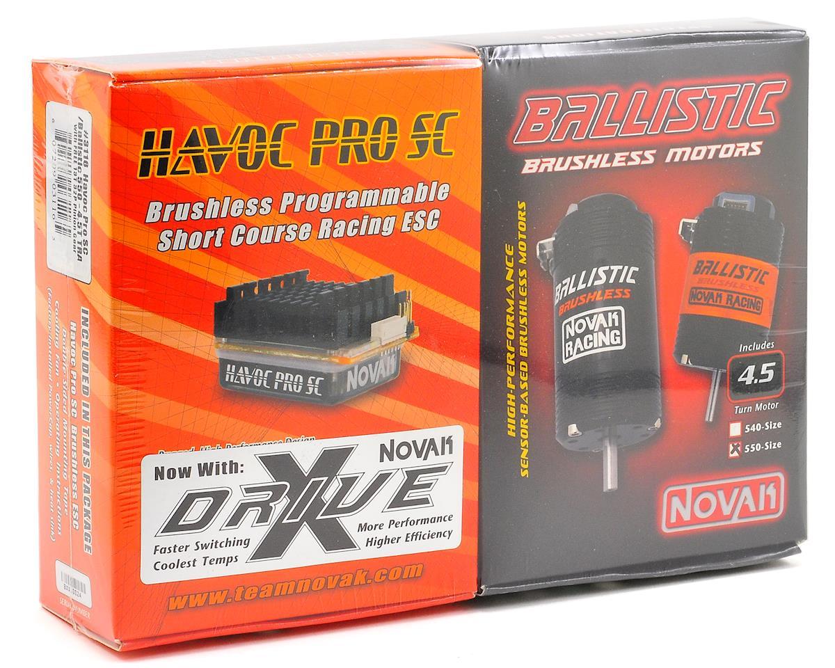 Novak Havoc Pro SC Brushless ESC/Ballistic 550 Motor Combo w/X-Drive (4.5T) (Traxxas)