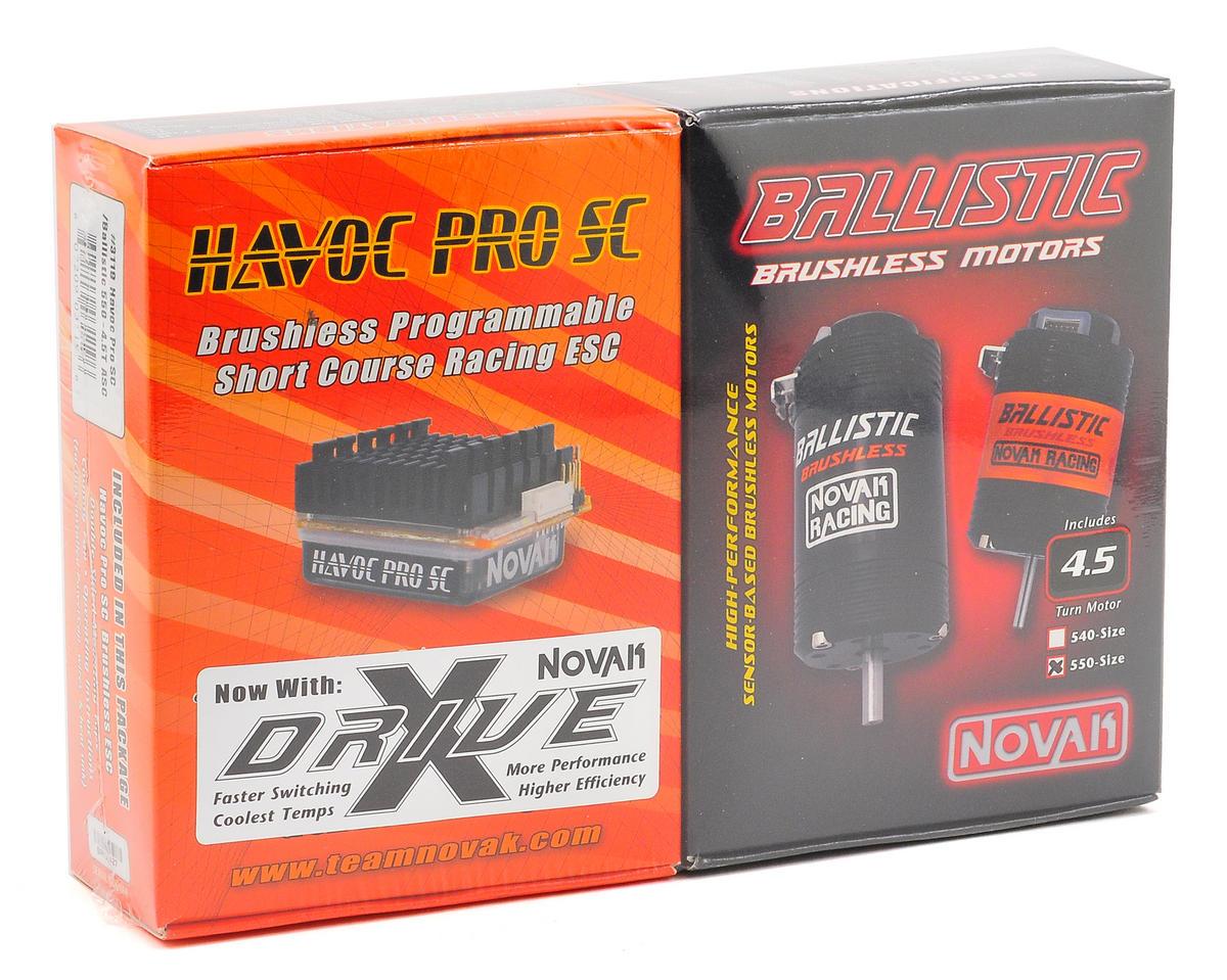 Novak Havoc Pro SC Brushless ESC/Ballistic 550 Motor Combo w/X-Drive (4.5T) (SC10 4x4)