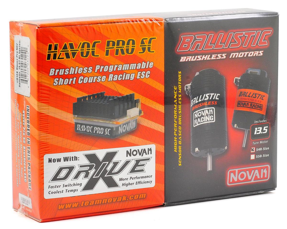 Novak Havoc Pro SC Brushless ESC/Ballistic Brushless Motor Combo w/X-Drive (13.5T)