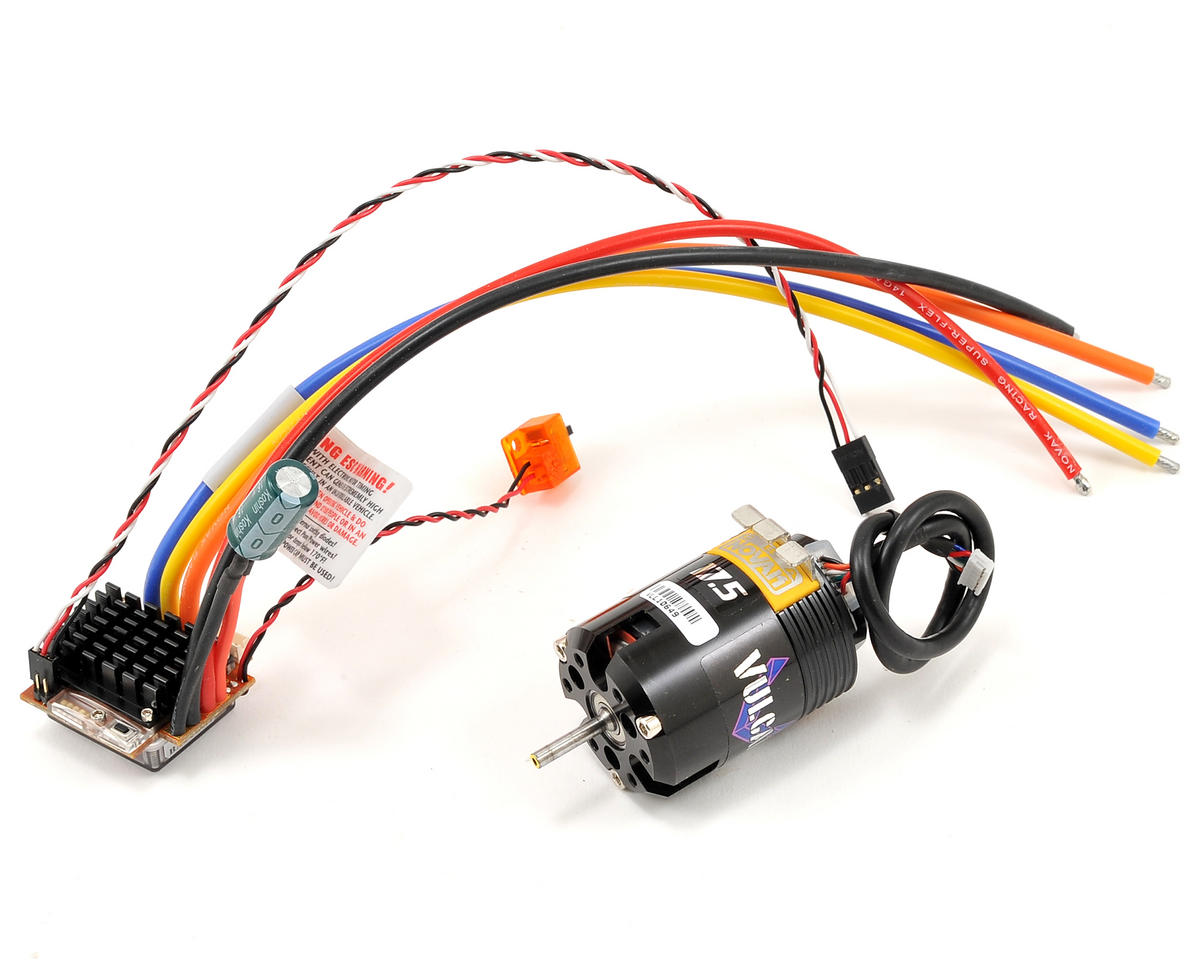 Novak Impact Brushless ESC/Vulcan Brushless Spec Motor Race Combo (17.5T)