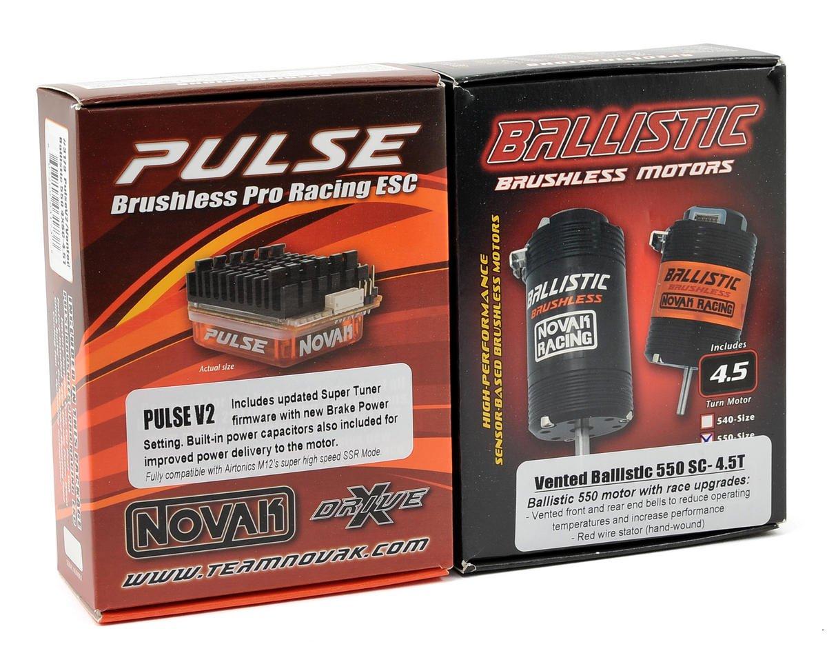 Novak Pulse V2 Brushless ESC/Ballistic Vented 550 Racing System w/X-Drive (4.5T)