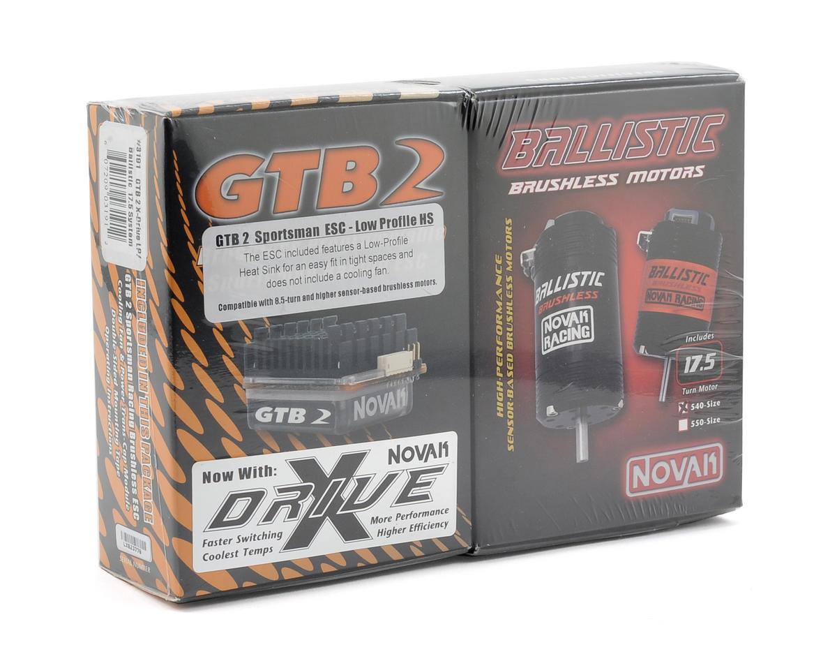 Novak GTB 2 LP Brushless ESC/Ballistic Brushless Spec Motor Combo w/X-Drive (17.5T)