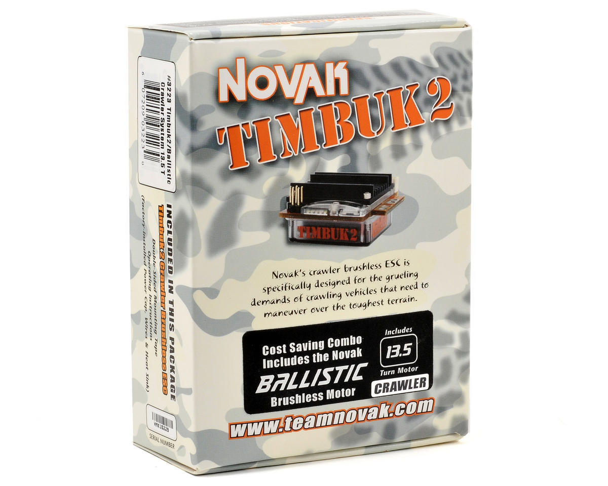 Novak Timbuk2 Crawler Brushless ESC/Ballistic Crawler Brushless System (13.5T)