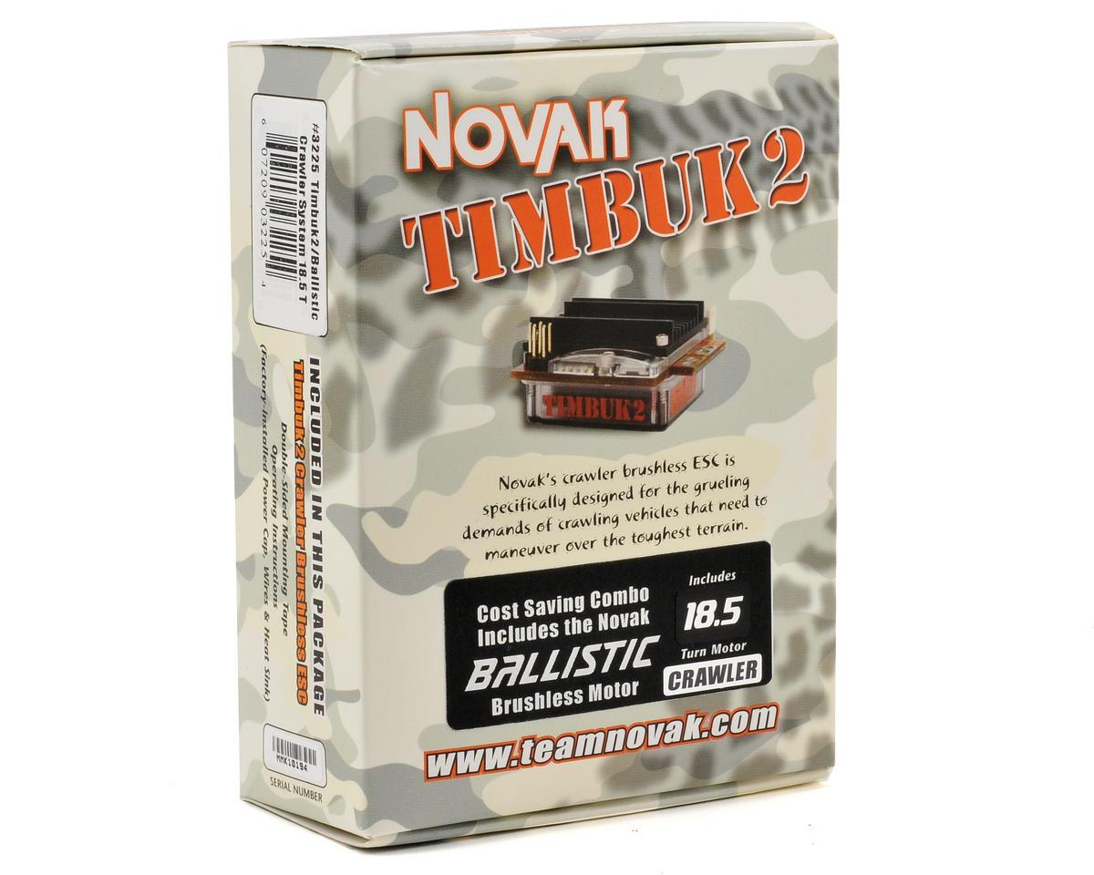 Novak Timbuk2 Crawler Brushless ESC/Ballistic Brushless Motor System (18.5T)